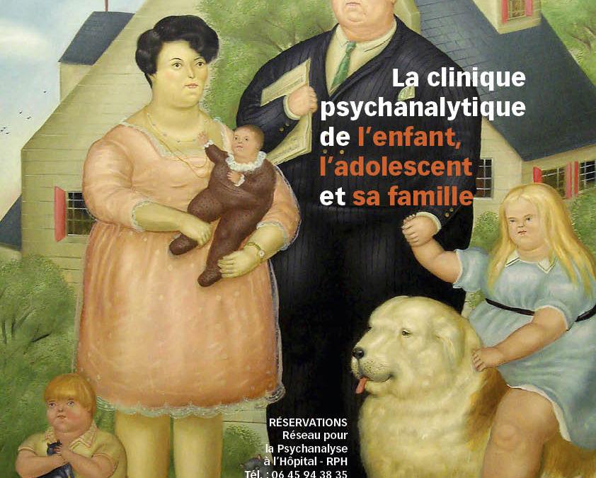 XXXVIIIe colloque du RPH – école de psychanalyse : la clinique psychanalytique de l'enfant, l'adolescent et sa famille
